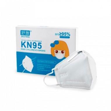 Mascarilla infantil KN95 norma GB/2626-2006 filtrado respiratorio