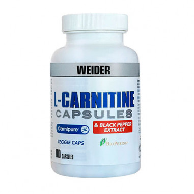 Weider L-Carnitine & Black Pepper Extract 100 Capsules
