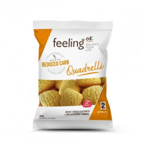 Mini Galletas FeelingOK Quadrelli Optimize Almendras 50 g
