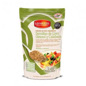 Semillas de Lino, Girasol y Calabaza Molidas en Frío y Ecológicas Linwoods 200 g