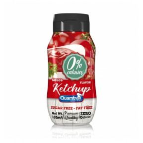 Salsa Ketchup 0% calorías Quamtrax Gourmet 330ml