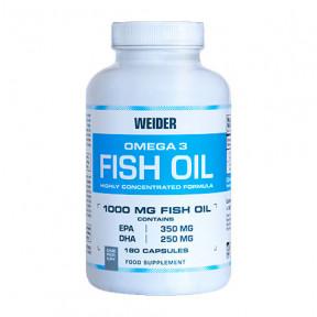 Complemento alimenticio Omega 3 Fish Oil Weider 180 Cápsulas