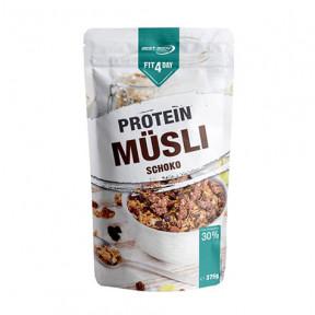 Cereais protéicos com muesli e chocolate de Fit4Day 375g