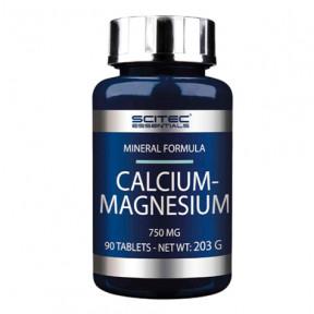 Calcio y Magnesio Scitec Essentials 90 cápsulas