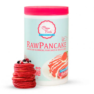Preparado para panquecas cruas com baixo teor de carboidratos, veludo vermelho, alimentos limpos, sabor 425 g
