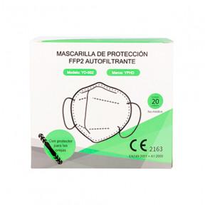 Caja de 20 Mascarillas FFP2 norma EN149:2001 filtrado respiratorio marcado CE