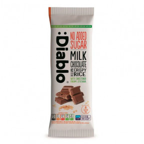Milk chocolate and crispy rice with Stevia: Diablo 75 g