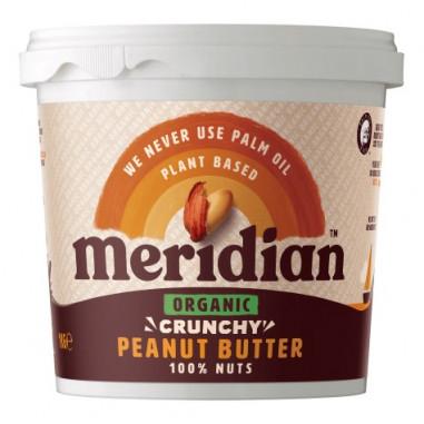 Manteiga de amendoim crocante orgânica Meridian 1 kg