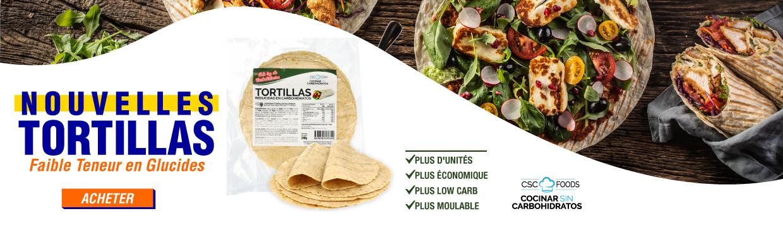 Nouvelles Tortillas Low Carb