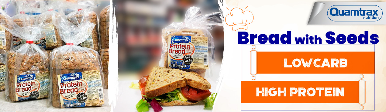 Protein and low-carb bread from Quamtrax, a fresh and tender bread to make your meals healthier